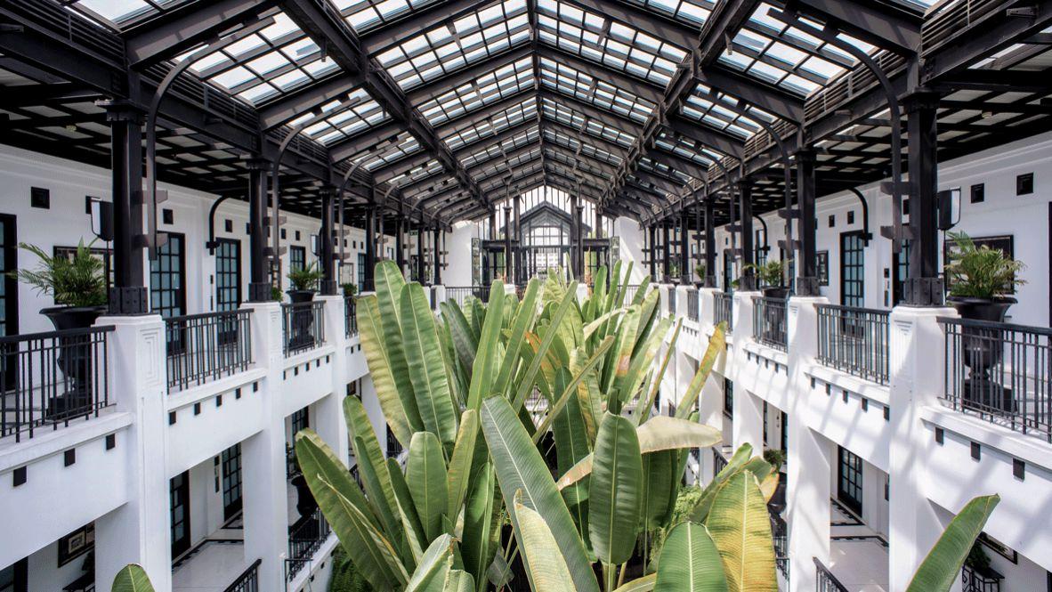 hotels in heaven the siam hall architecture plants green white balcony window sunbeams luxury