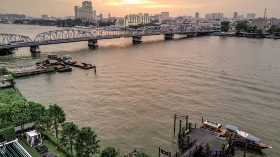 hotels in heaven the siam view river location bridge boat city sunset building car tree