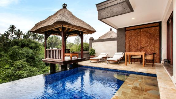 hotels in heaven viceroy bali accommodation suite bungalow provate pool deckchair chair table shack plpants nature jungle view