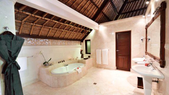 hotels in heaven viceroy bali bathroom private spa bath lamps romantic towel flower mirror sink water bathtub hairdryer romantic