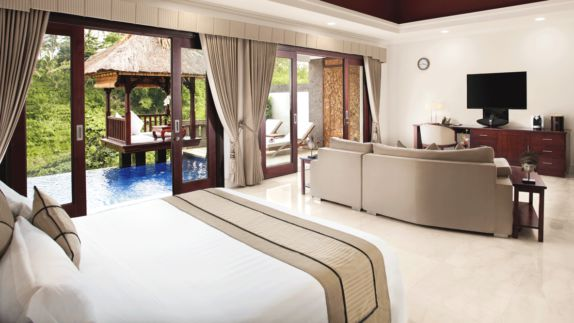 hotels in heaven viceroy bali bedroom suite private pool bed tv couch room infinity pool chair pillow decoration