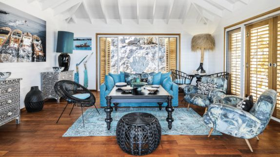 hotels in heaven villa marie saint barth living room suite blue fancy table paintings decoration lamp seats pillow nice room style