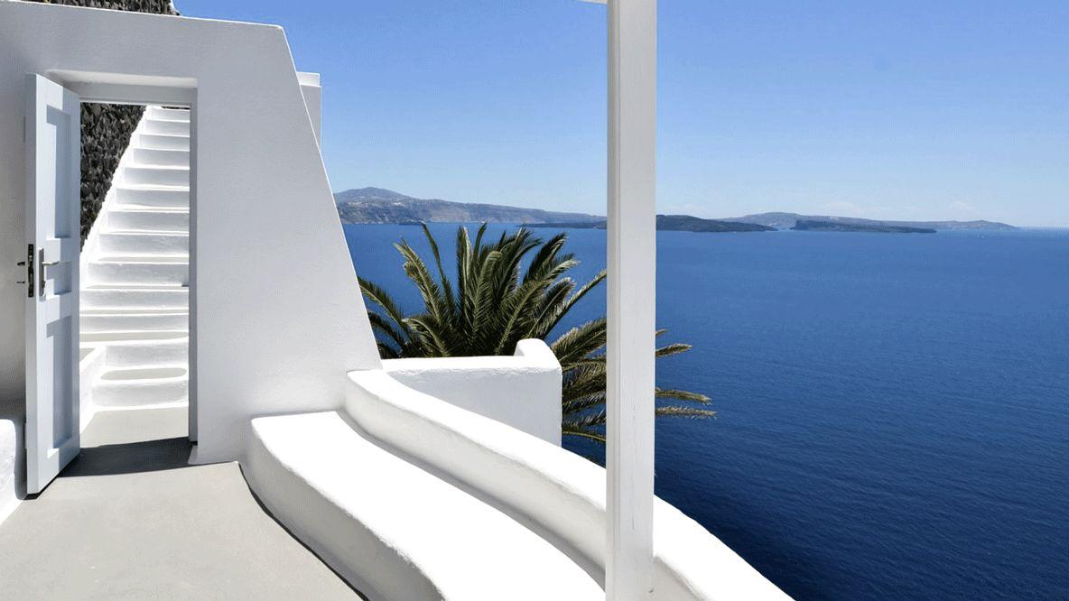 private balcony-katikies hotel greece