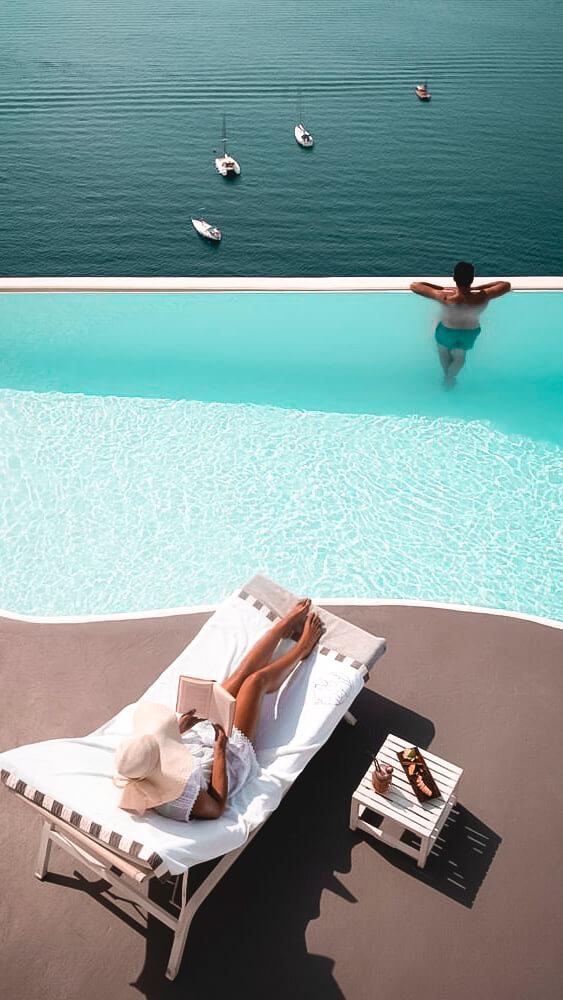 infinity pool-katikies hotel greece