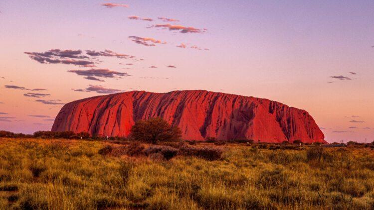 sunset uluru-longitude 131° australia