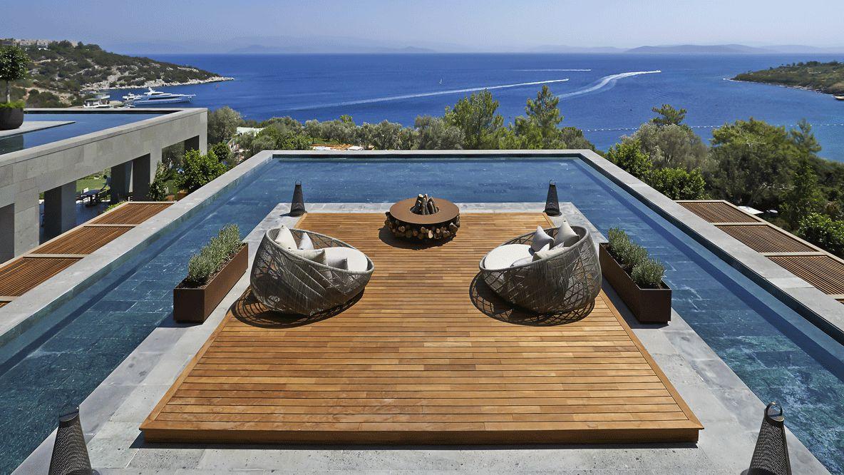 pool view ocean-mandarin oriental bodrum