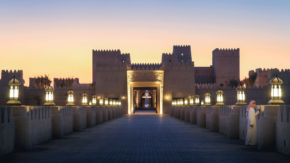 entrance driveway-qasr al sarab uae
