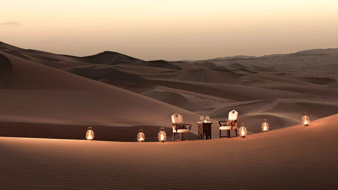 romantic dinner location-qasr al sarab uae