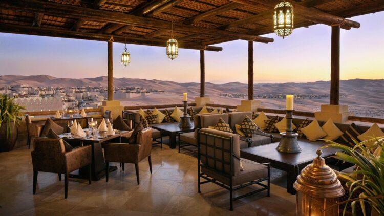 restaurant view-qasr al sarab uae