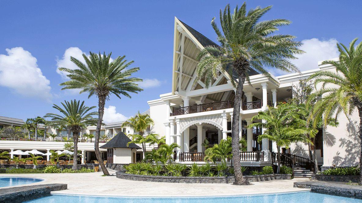 hotels in heaven residence mauritius accommodation pool palmtrees balcony luxury plants white sunshade
