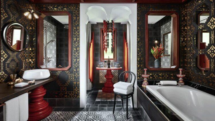bathroom-rosewood luang prabang laos