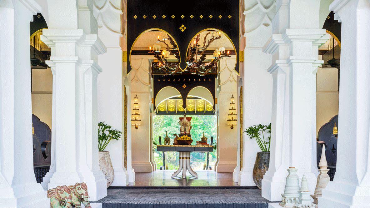 entrance hall-rosewood luang prabang laos
