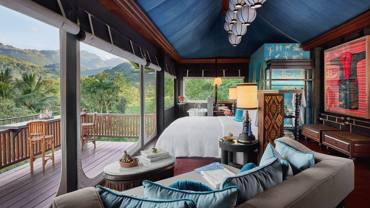 tent view-rosewood luang prabang laos
