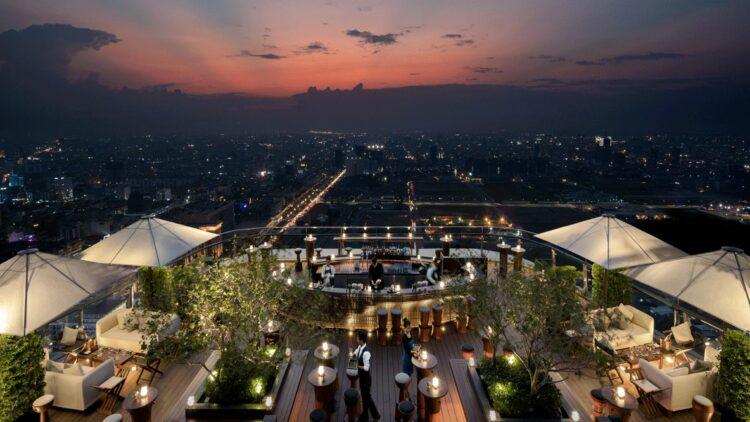 skyline rooftop bar-rosewood phnom penh cambodia