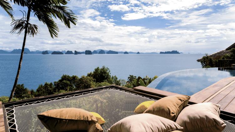 hammock ocean view-six senses yoa noi thailand