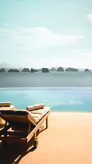 infinity pool ocean view-six senses yoa noi thailand