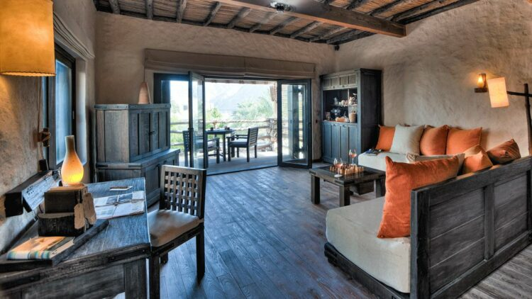 livingroom suite-six senses zighy bay oman