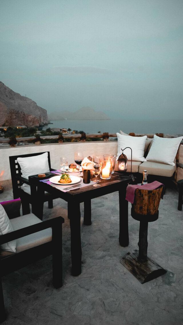 outdoor restaurant-six senses zighy bay oman