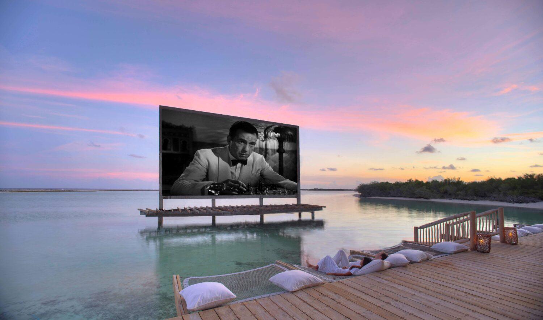 outdoor cinema beach-soneva jani maldives