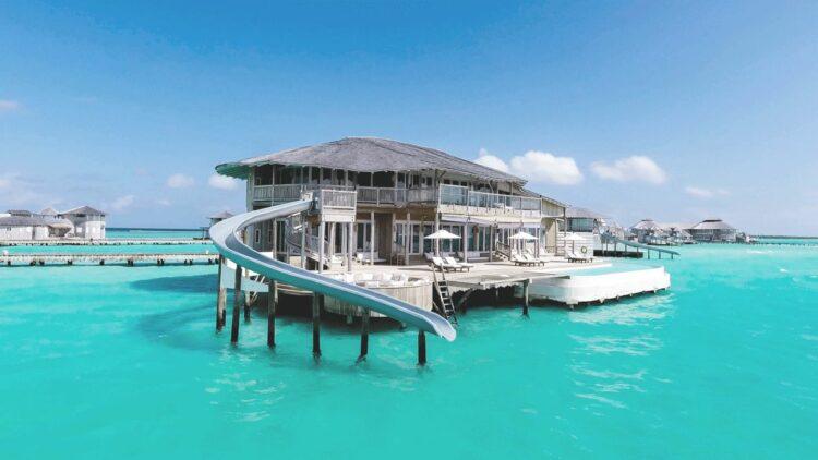 villa with ocean slide-soneva jani maldives