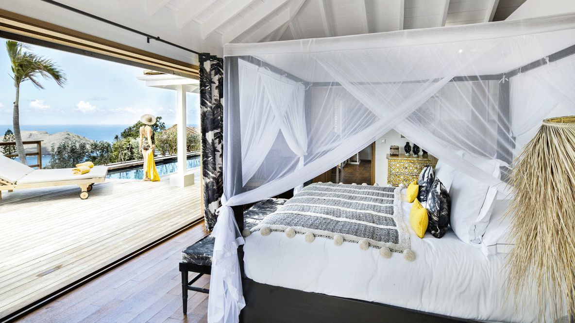 private bedroom suite-villa marie saint-barth
