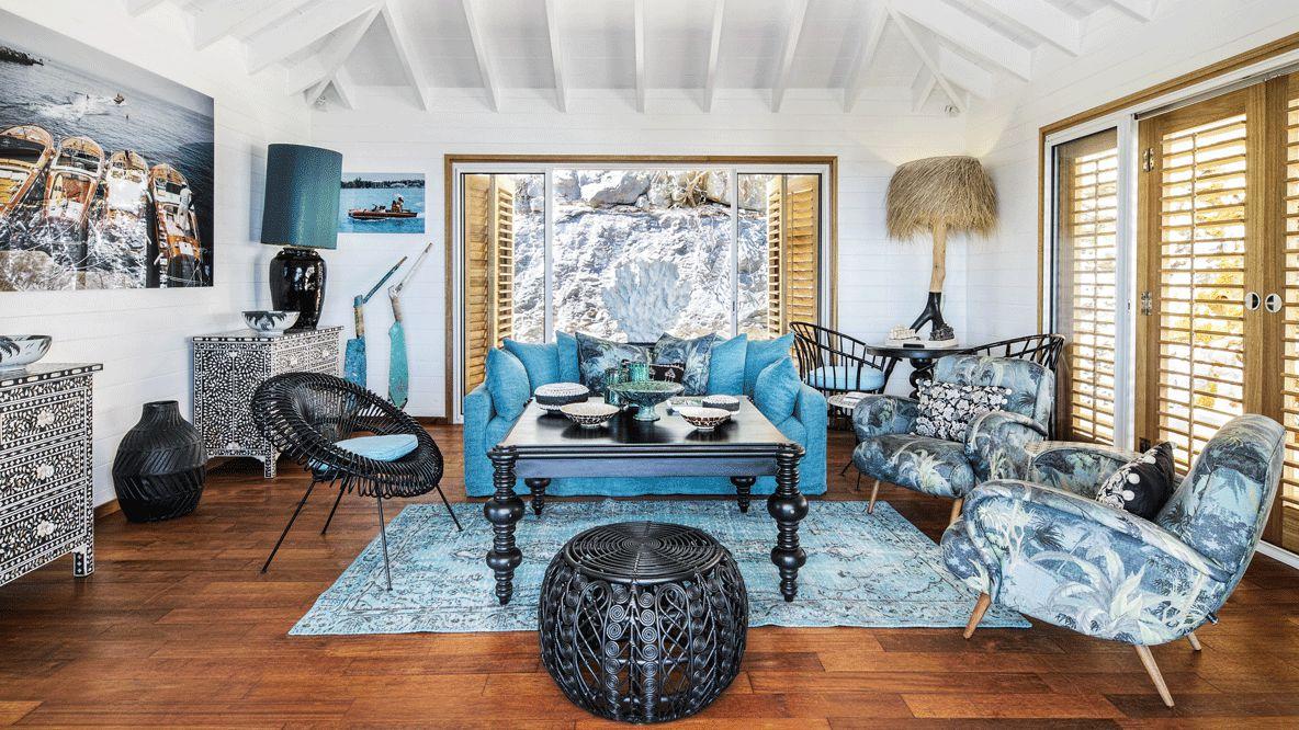 spacious livingroom hotel-villa marie saint-barth