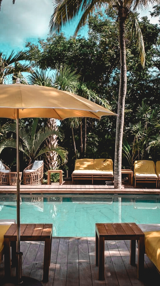 pool area-villa marie saint-barth