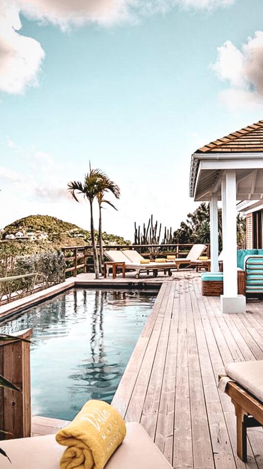 pool area terrace-villa marie saint-barth
