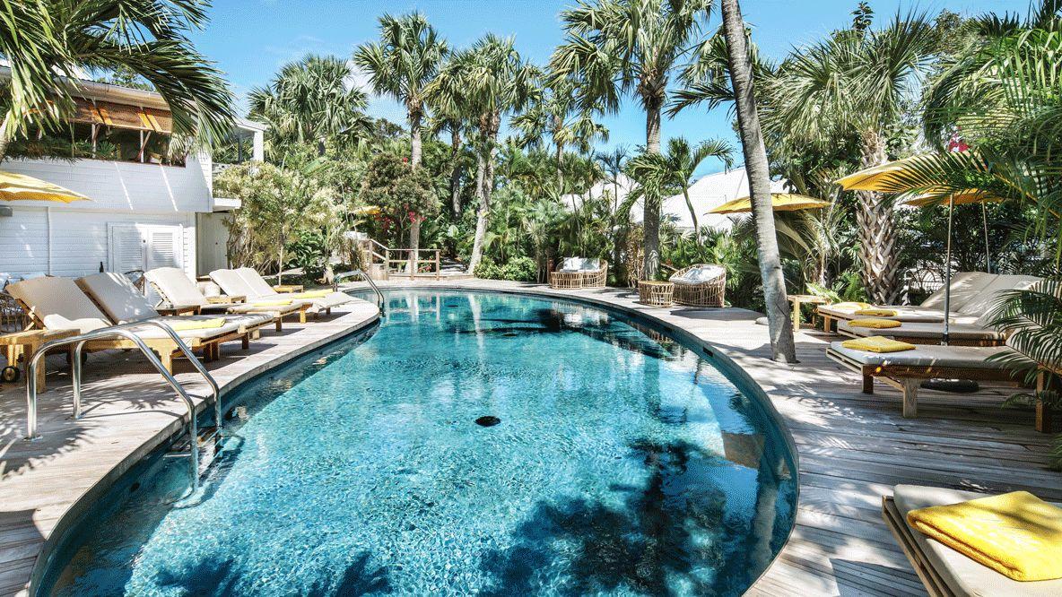 pool area hotel-villa marie saint-barth
