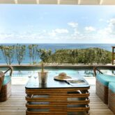private terrace with pool-villa marie saint-barth