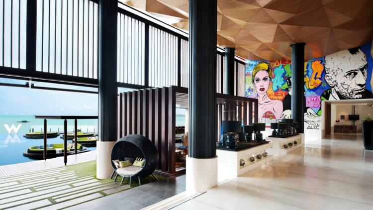 cabanas pool-w koh samui thailand