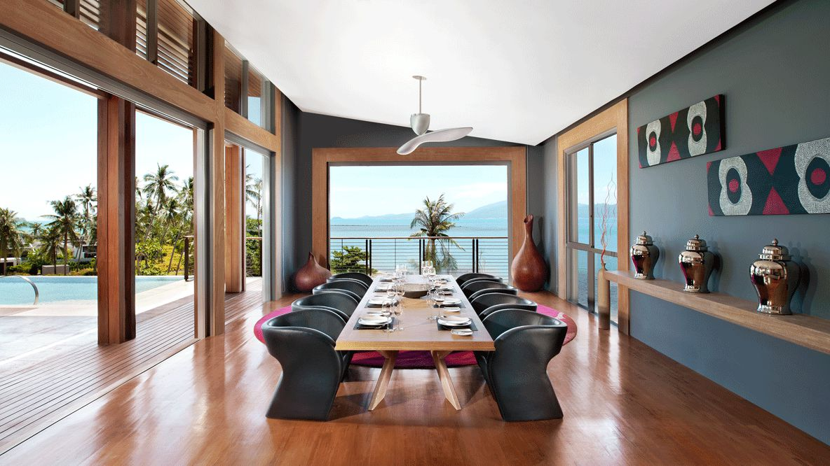 dining area private villa-w koh samui thailand