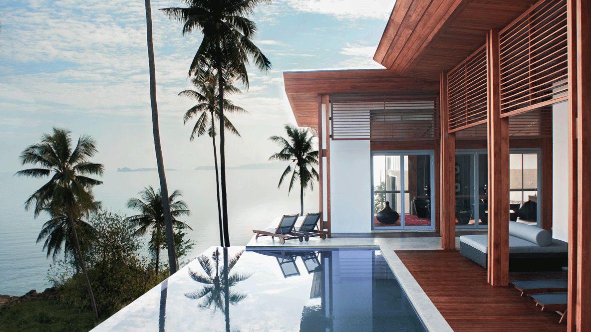 villa with pool-w koh samui thailand