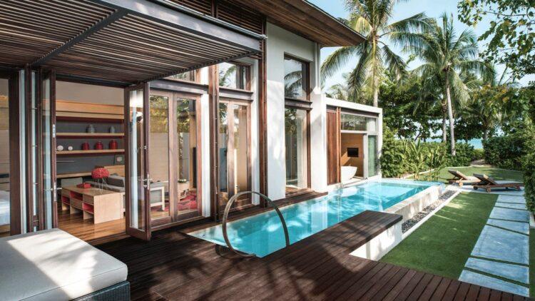modern beach villa-w koh samui thailand