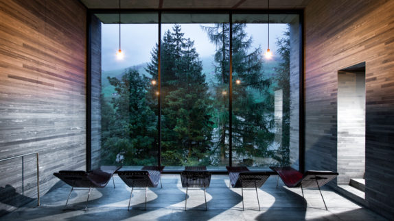 hotels in heaven 7132 accommodation lounger relaxing spa view trees dusty lamps evening lights wooden walls