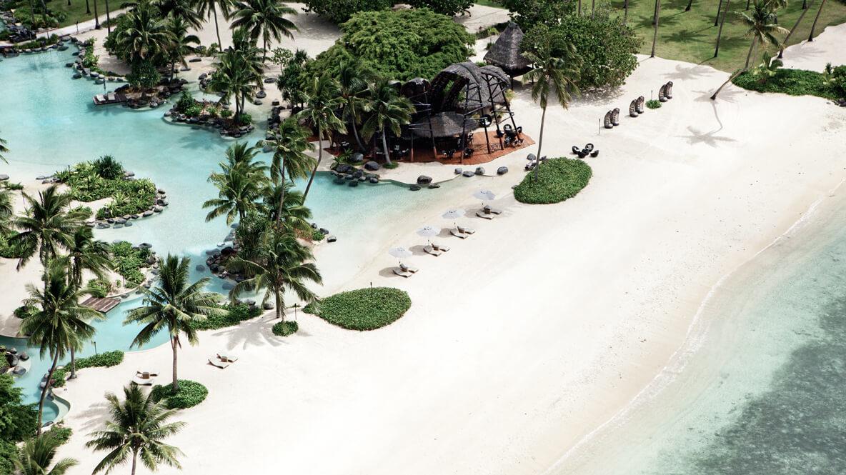 beach bar pool ocean-laucala island fiji
