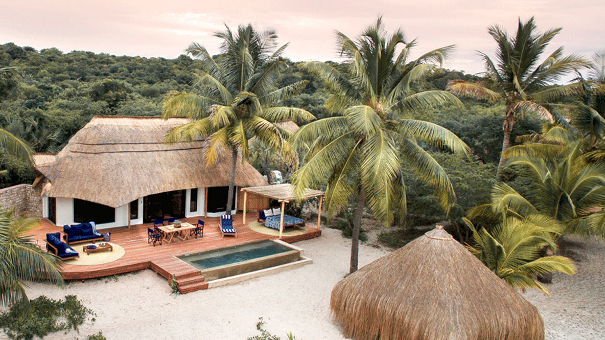 hotels in heaven andBeyond Benguerra Island Mozambique private bungalow slider tropics palmtrees nature unique