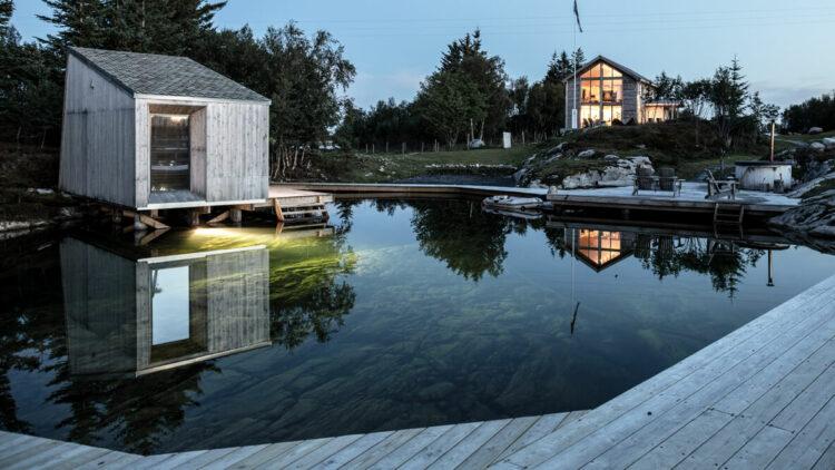 private lake cabin-manshausen island resort norway
