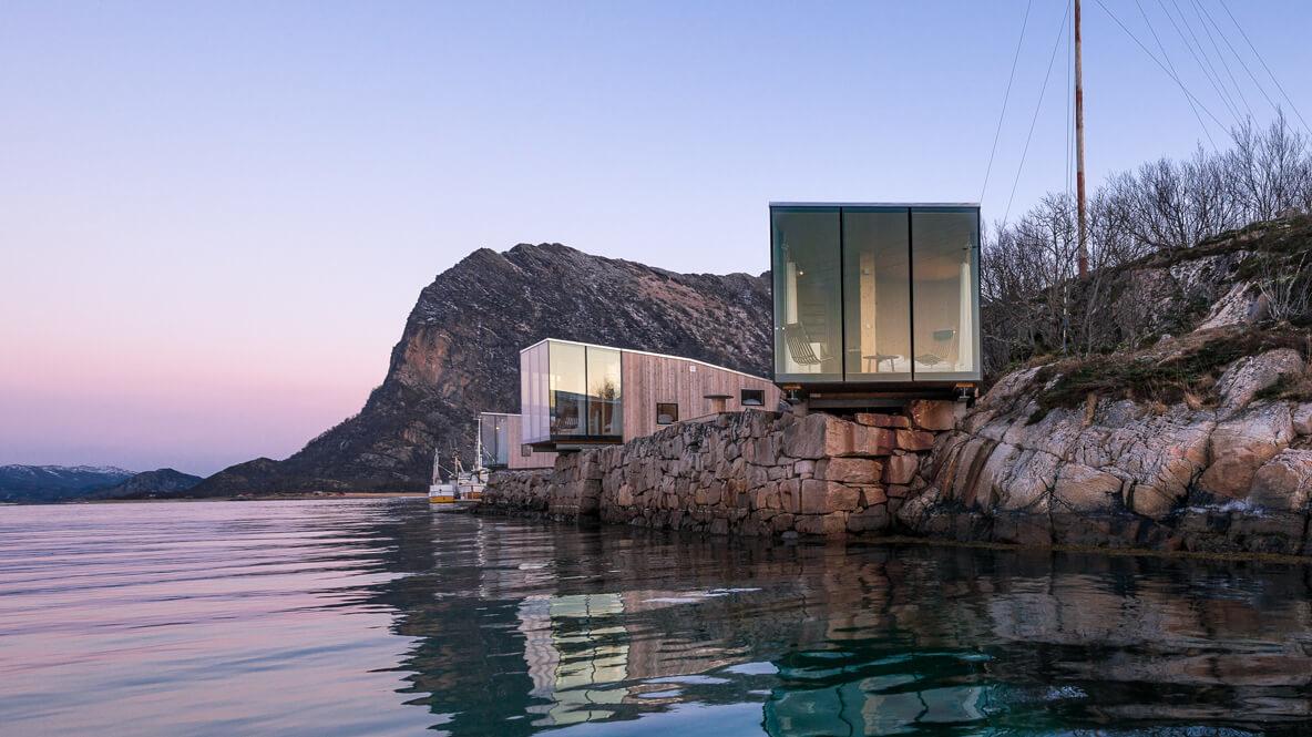 open design cabins-manshausen island resort norway