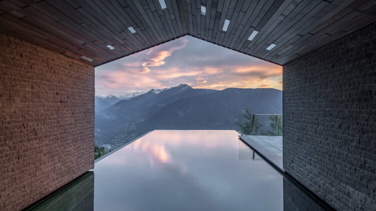 hotels in heaven miramonti boutique pools spa wellness view mountains amazing beautiful outdoors on of a kind roof