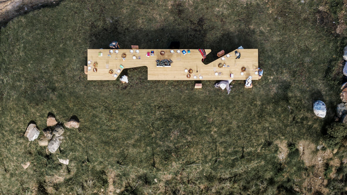 hotels in heaven sacromonto dining table cunlinary special drone flight view shot nice incredible grass wooden food dinner big