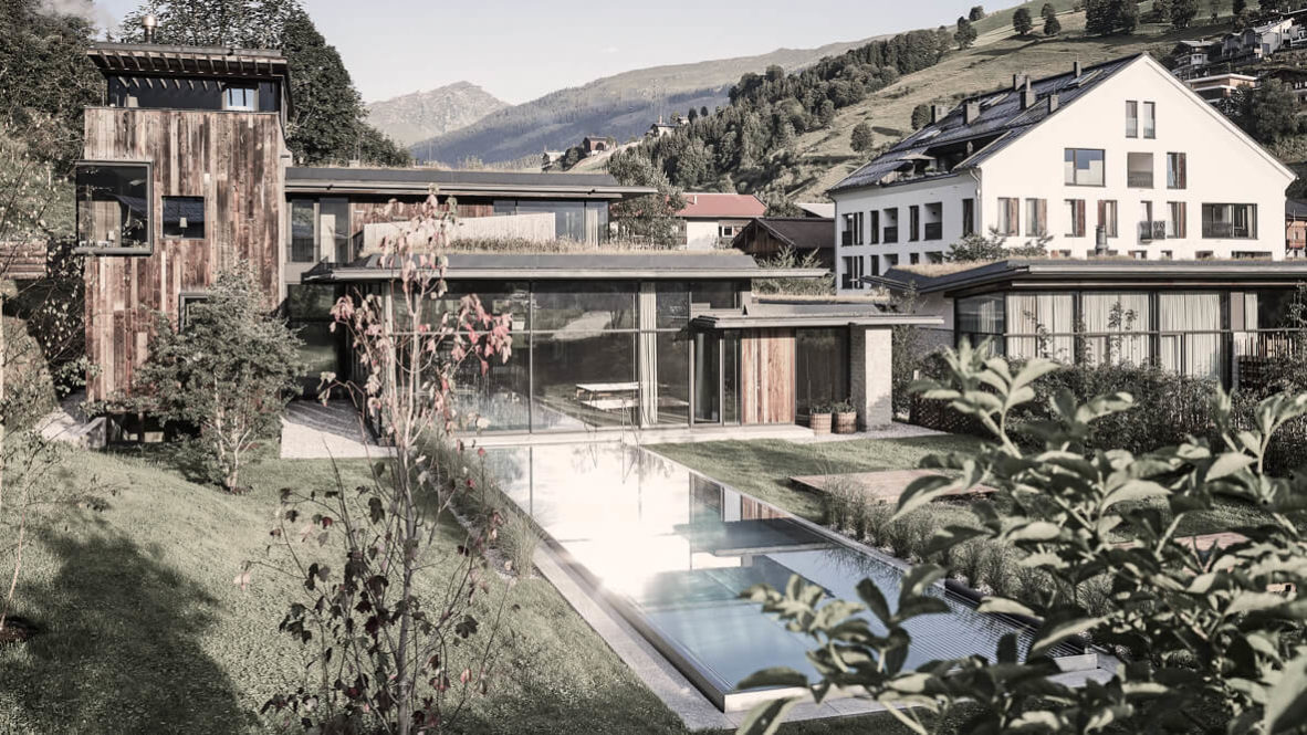 pool view alps-wiesergut hotel austria