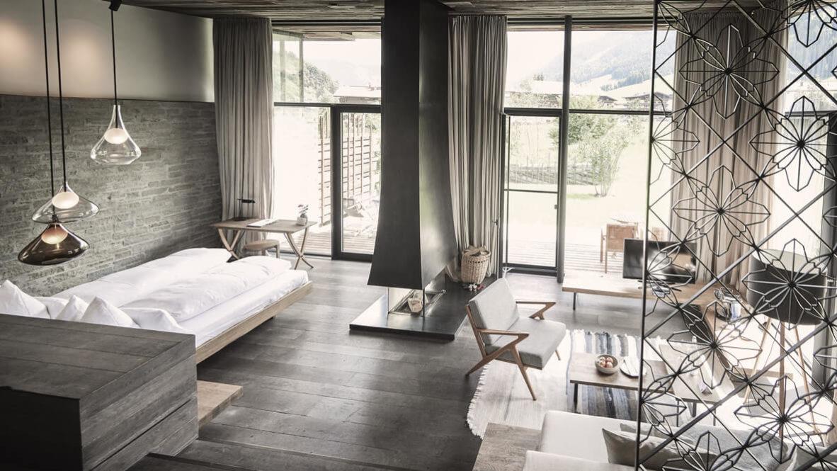 cozy modern bedroom suite-wiesergut austria