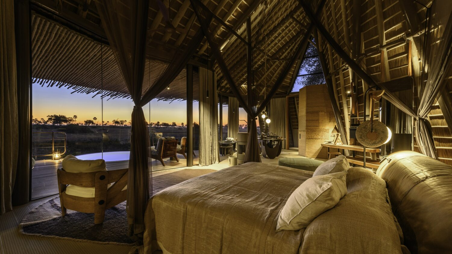 private villa with pool- jao camp africa