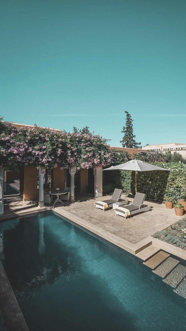 heated pool villa-the oberoi marrakech