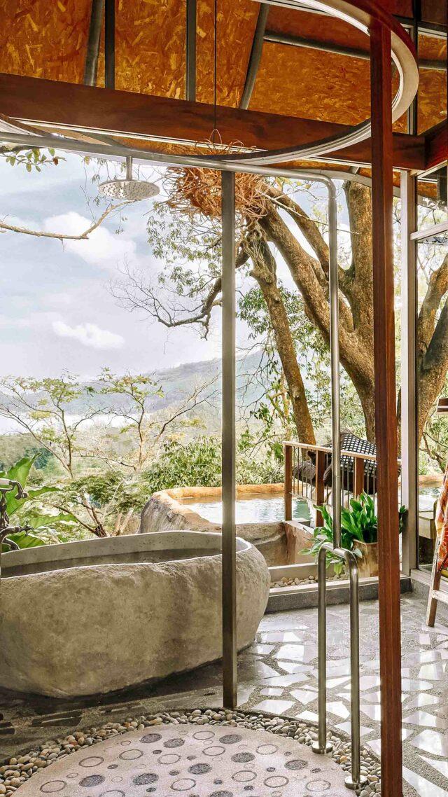 outdoor bathroom with a view-keemala phuket thailand