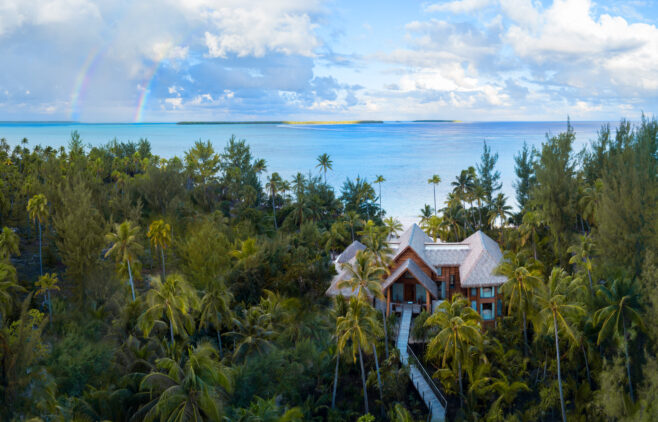 luxury private beach villa-the brando south pacific