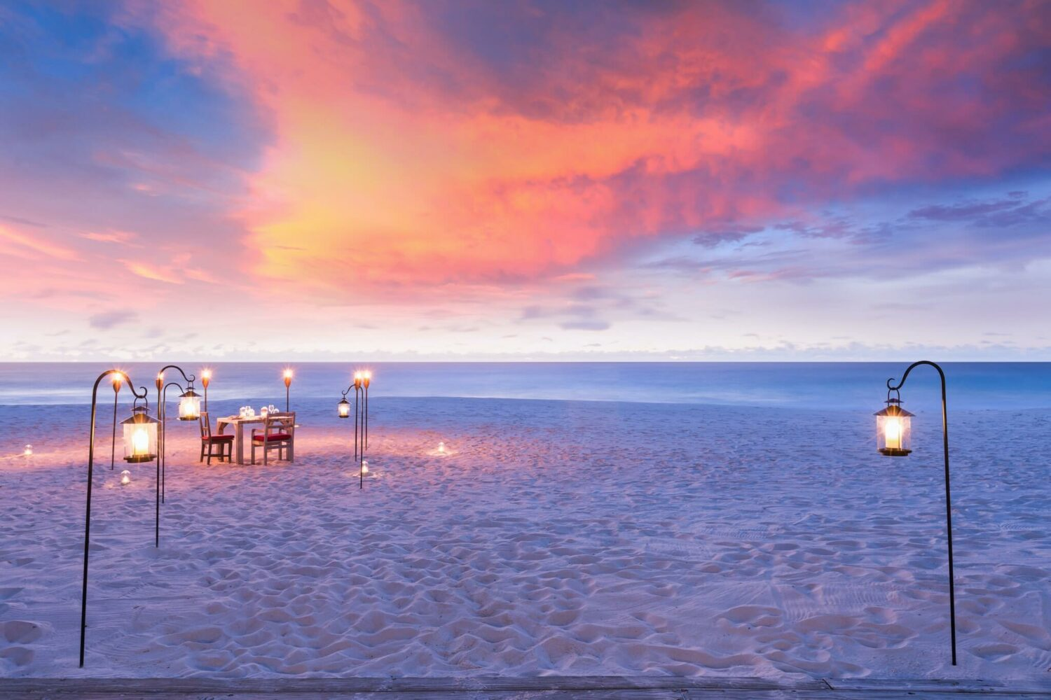 sunset dinner-north island seychelles