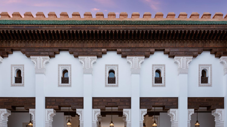 moroccan facade-the oberoi marrakech