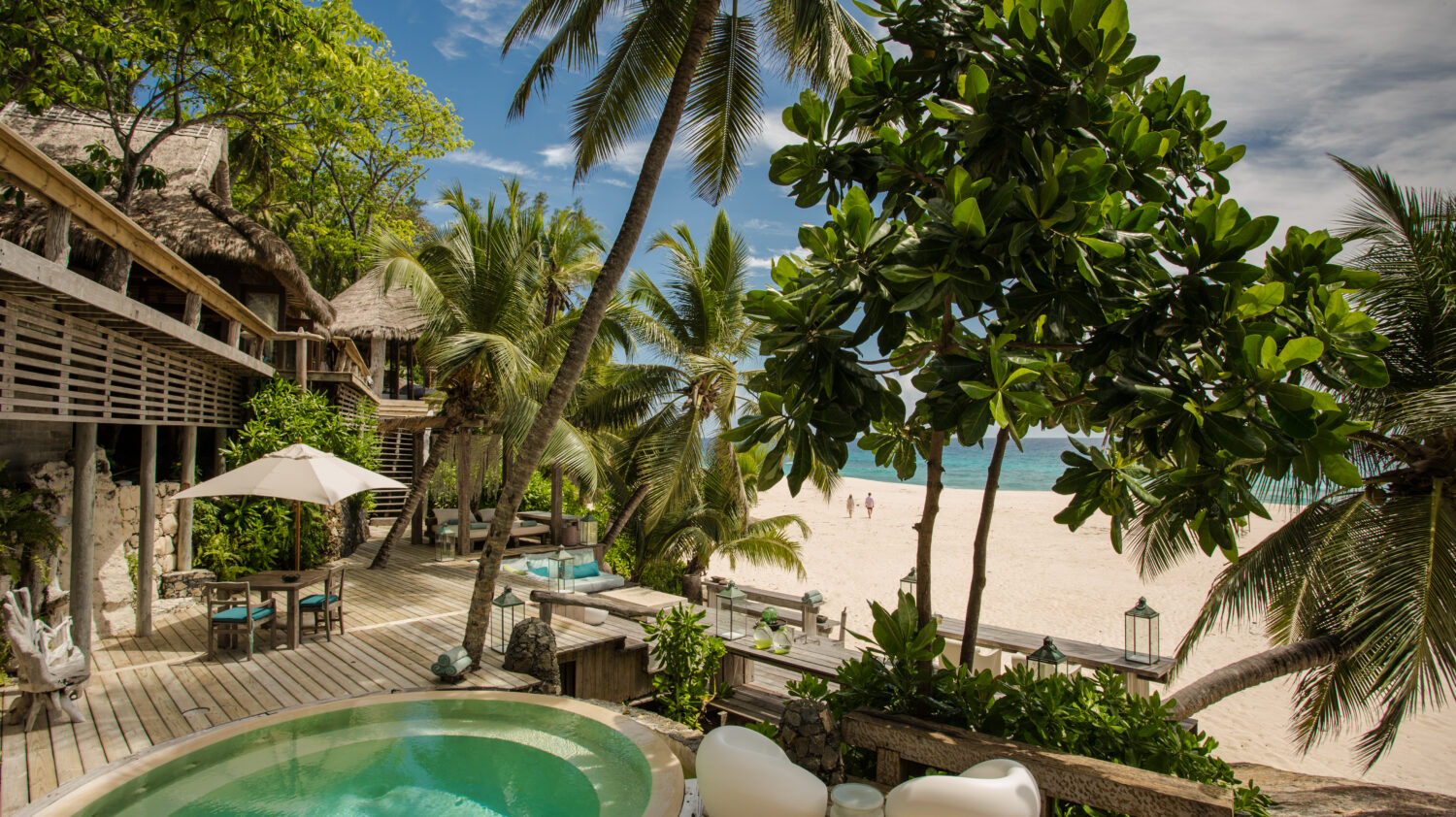 best private beach villa with pool-north island seychelles